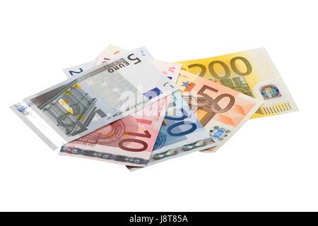 euro, currency, treasury notes, bills, capital, economy, money, finances, bank, - Stock Photo