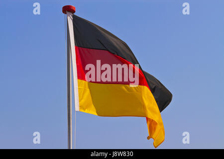 black, swarthy, jetblack, deep black, flag, germany, german federal republic, - Stock Photo