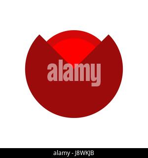 Poppy red flower isolated. Flowers emblem, logo - Stock Photo