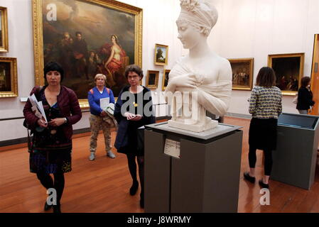 A tour in the collections of Saint-Pierre Museum of Fine Arts, in Lyon - Stock Photo