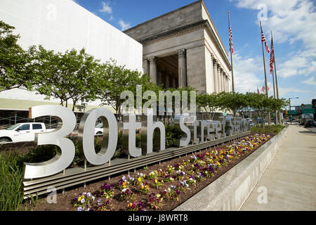 septa 30th street train station Philadelphia USA - Stock Photo
