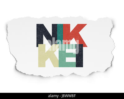 Stock Market Indexes Concept Nikkei 225 On Road Sign Background