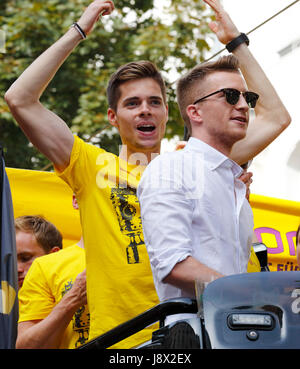 sports, football, Bundesliga, DFB Cup, 2016/2017, BVB Borussia Dortmund became German cup winner 2017 in the final - Stock Photo