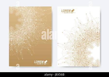 Modern vector template for brochure, Leaflet, flyer, cover, magazine or annual report. A4 size. Business, science, - Stock Photo