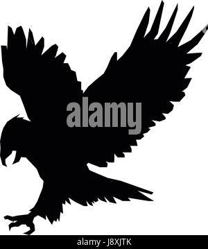 American Eagle Emblem Vector Stock Vector Art