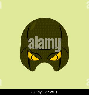 SuperHero mask snake. Reptile protective mask for person. Vector illustration. - Stock Photo