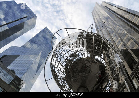 Skyscrapers in Columbus Circle, New York City - Stock Photo