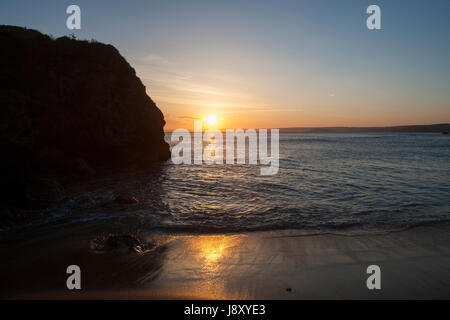 Shippen Beach, Outer Hope, Hope Cove, South Hams, South Devon, England, UK - Stock Photo