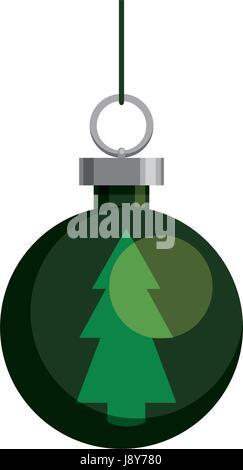 Christmas decorative ball - Stock Photo