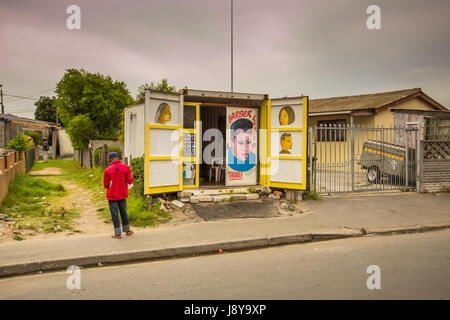 LANGA TOWNSHIP, SOUTH AFRICA - JANUARY 28, 2014 - A walking tour, in the Township of Langa and private homes - Cape - Stock Photo