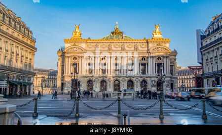 View of the Opera Garnier in Paris, France - Stock Photo
