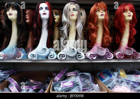 Wig Shop In Los Angeles Usa Stock Photo Royalty Free
