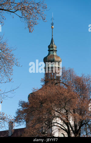 Cupola or spire on building in the town of Kutna Hora in the Czech Republic - Stock Photo
