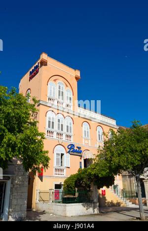 Hotel Porin, Marineta, seaside promenade, Makarska, Dalmatia, Croatia - Stock Photo