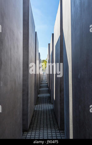 The Jewish Holocaust Memorial, Cora-Berliner-Strasse, Mitte, Berlin, Germany - Stock Photo