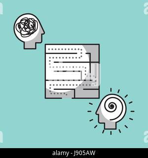 maze solution concept image  - Stock Photo