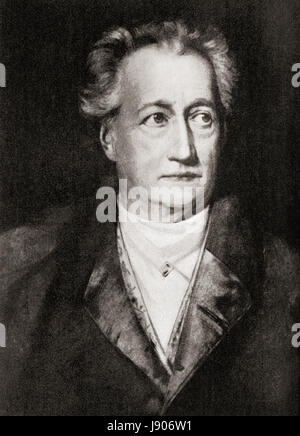 Johann Wolfgang von Goethe, 1749 – 1832.  German writer and statesman.  From Hutchinson's History of the Nations, - Stock Photo