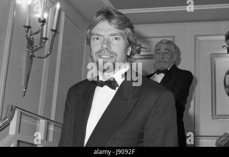 Richard Branson, Head of the Virgin Group of companies, attends the British Videogram awards in London, England - Stock Photo