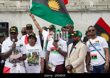 London, UK. 30th May, 2017. Biafran rally in London in protest at what they say was a genocide against Biafra between - Stock Photo