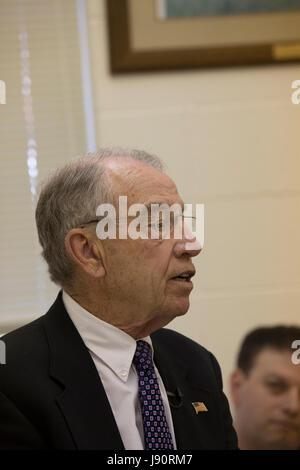 Guthrie City, Iowa, USA, 30th May 2017. Iowa Senator and Judiciary Committee Chair of the US Senate Charles Grassley - Stock Photo