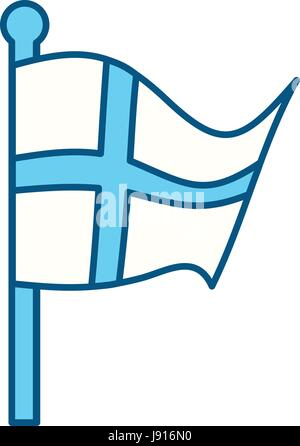 Finland flag emblem - Stock Photo