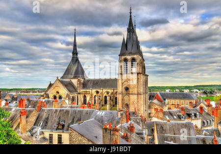 Saint Nicholas church in Blois, France - Stock Photo