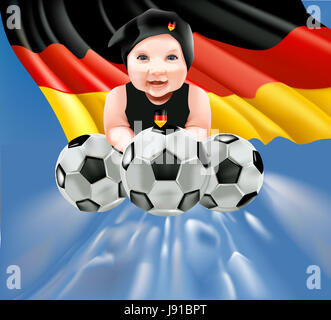 national, baby, team, europe, germany, german federal republic, games, - Stock Photo