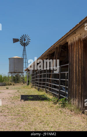 Sonoita, Arizona - The historic Empire Ranch, once one of the largest cattle ranches in America. The ranch is administered - Stock Photo