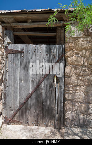 Sonoita, Arizona - An outbuilding door at the historic Empire Ranch, once one of the largest cattle ranches in America. - Stock Photo