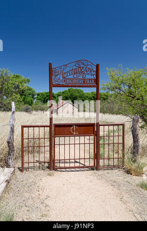 Sonoita, Arizona - The entrance to the Heritage Discovery Trail at the historic Empire Ranch, once one of the largest - Stock Photo