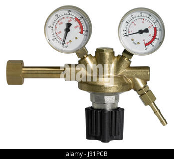 pressure reducer isolated on white - Stock Photo