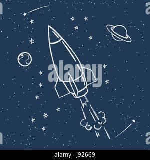 cute space travel - Stock Photo