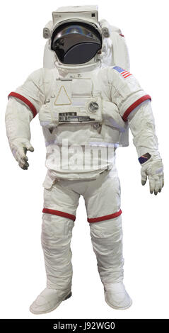 astronauts isolated on white for student study - Stock Photo