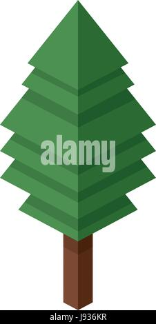 tree plastic construction block lego. construction puzzle pieces - Stock Photo