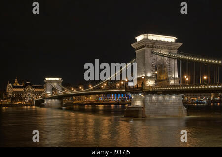 city, town, lights, capital, budapest, hungary, blue, travel, historical, city, - Stock Photo