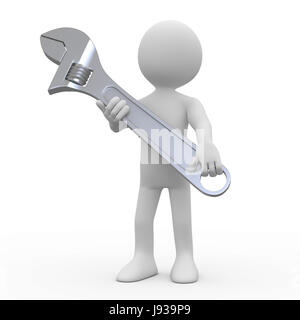 tool, isolated, industry, human, human being, silver, iron, repair, steel, - Stock Photo