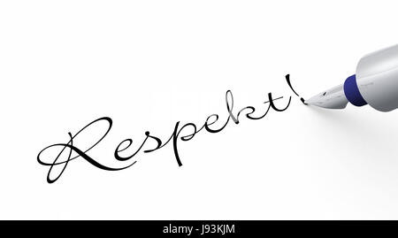 respect! - pen concept - Stock Photo