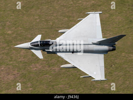 RAF Eurofighter (Typhoon) Flying Low Level - Stock Photo