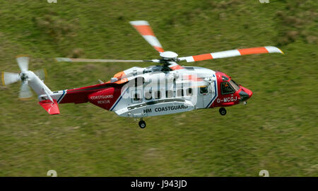 HM Coastguard Helicopter 'Rescue 936' - Stock Photo