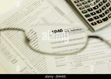 finance, file, tax, income, federal, form, office, note, memo, pay, macro, - Stock Photo