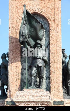 monument, square, that, istanbul, republic, monument, republic, prime minister, - Stock Photo