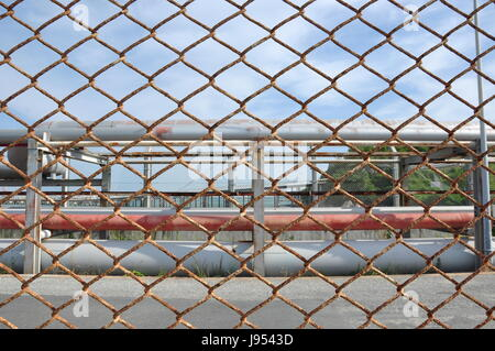 industry, industrial, chain, iron, wall, net, steel, illustration, brig, jail, - Stock Photo