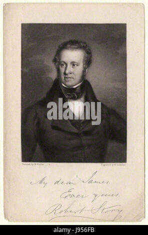 Robert Story by William Overend Geller, after Richard Waller - Stock Photo