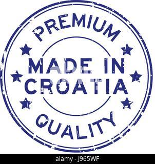 best choice blue round grunge vintage ribbon stamp Stock ...