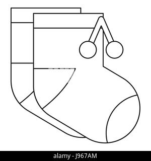 Baby socks icon, outline style - Stock Photo