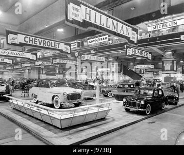 1958 Earl's Court Motor Show - Stock Photo