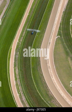 Aerial view of a racing track. - Stock Photo