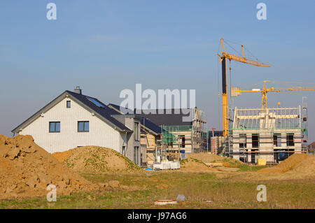 house, building, build, new building, building industry, house-build, - Stock Photo