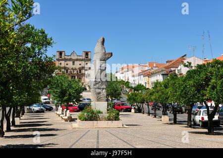 Portugal Alentejo Vila Vicosa The Main Street In The