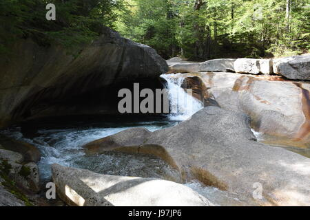 The Basin in Franconia Notch State Park - Stock Photo